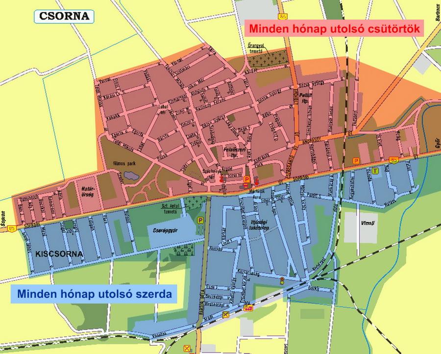 csorna térkép Szelektív gyűjtés változása Csornán   Kisalföldi Kommunális  csorna térkép